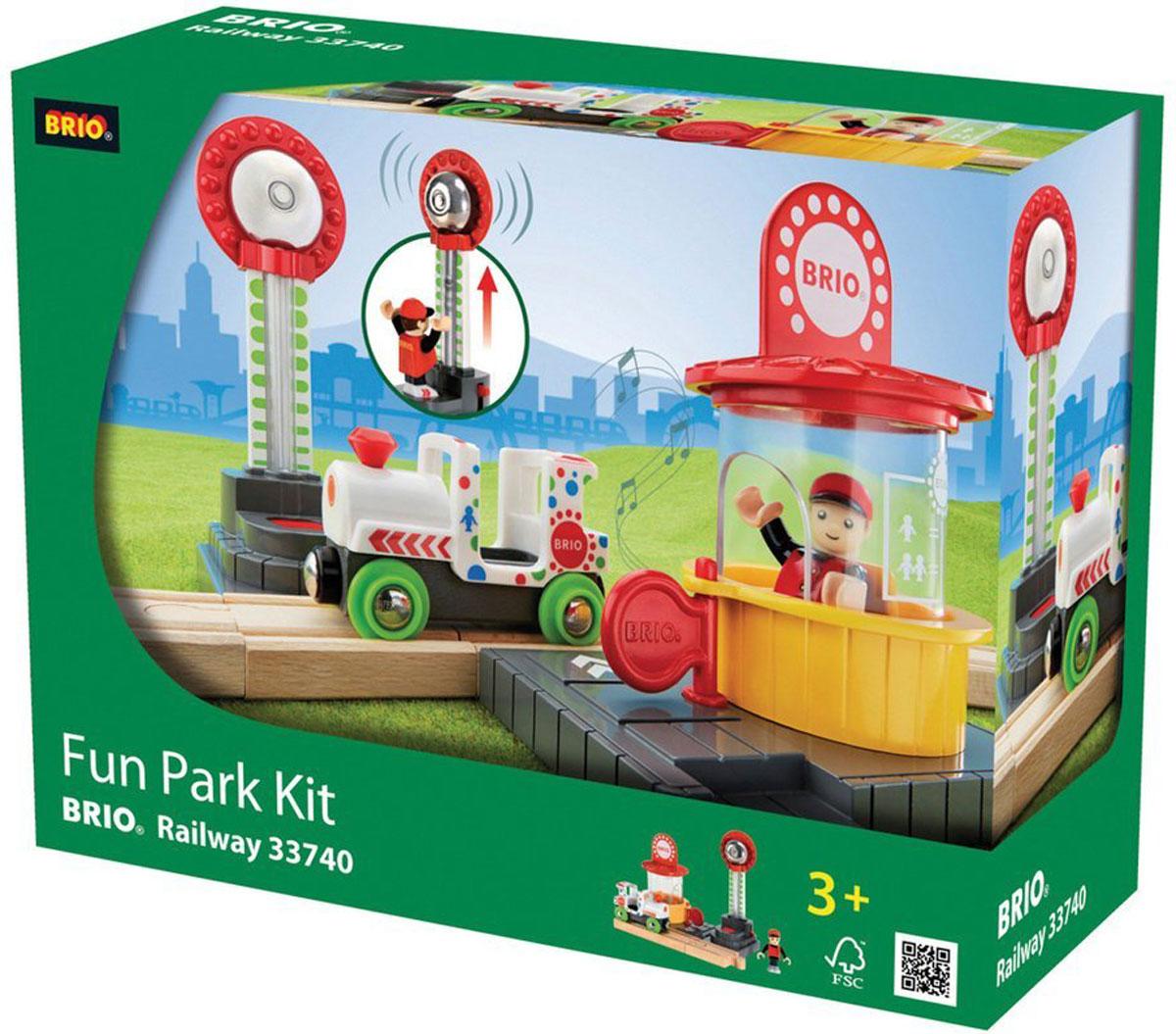 Brio Парк развлечений железные дороги brio brio 3 деревянные машинки с магнитами 33759