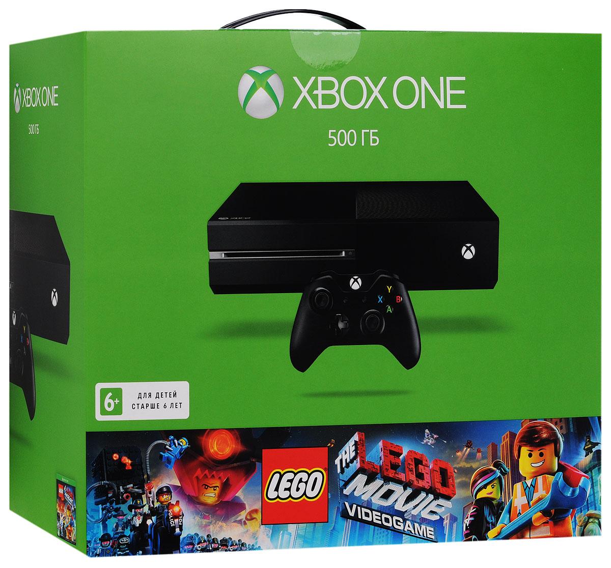Игровая приставка Xbox One 500 ГБ + The LEGO Movie Videogame купить игры лицензионные на xbox 360