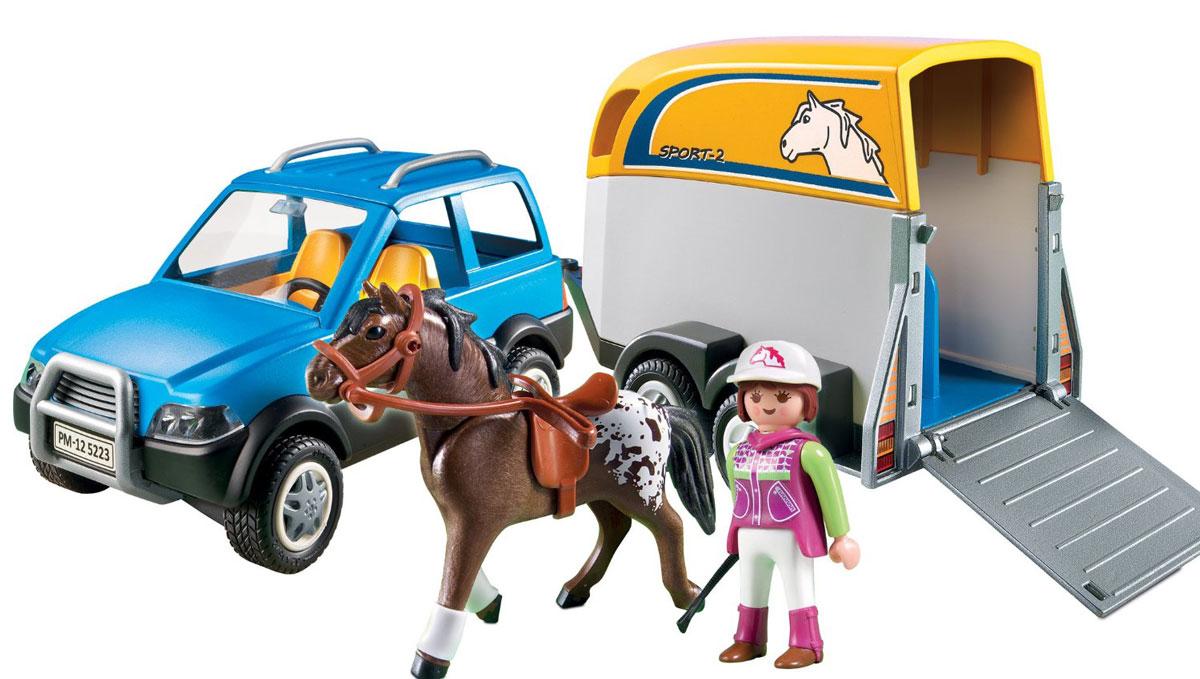 Playmobil Игровой набор Лошади Джип с трейлером для перевозки лошадей игрушка hti roadsterz полноприводный джип с трейлером 1373145 uni