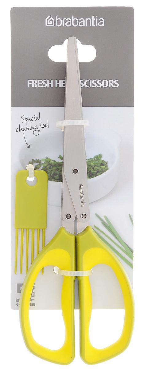 Ножницы для мяса Brabantia Accent, цвет: стальной матовый. 463648106620Удобно нарезать свежую зелень непосредственно в кастрюлю, салатник или другое блюдо. 5 острых лезвий из нержавеющей стали. Просты и удобны в очистке – имеется специальное приспособление для очистки между лезвиями. Ручки из прочного пластика, рабочая часть – из нержавеющей стали.