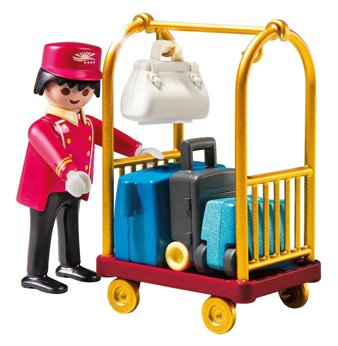 Playmobil Игровой набор Отель Носильщик с чемоданами playmobil игровой набор мой большой зоопарк