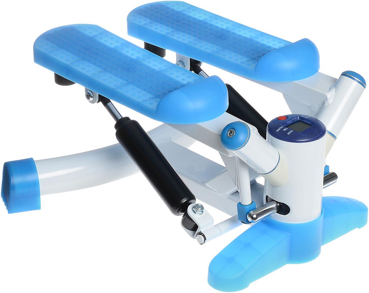 Министеппер поворотный Ironmaster. IRST28IRST28Поворотный министеппер Ironmaster - это удобный и компактный тренажер, позволяющий заниматься спортом в ограниченных пространствах. Степпер позволяет создать нагрузку на мышцы ног, ягодиц и брюшного пресса. Изделие оснащено компьютером.КомпьютерStop. Слово Stop отображается на экране, когда вы не работаете с устройством.Count. Показывает суммарное количество шагов за текущий сеанс занятий.Time. Показывает время тренировки.Calorie. Показывает количество калорий, потраченных за время тренировки.Reps/min. Показывает среднее количество шагов в минуту.Scan. Циклическое чередование доступных функций (смена происходит каждые 6 секунд). Назначение кнопокReset. При нажатии кнопки произойдет сброс настроек. Компьютер работает от батарейки типа АА (входят в комплект).