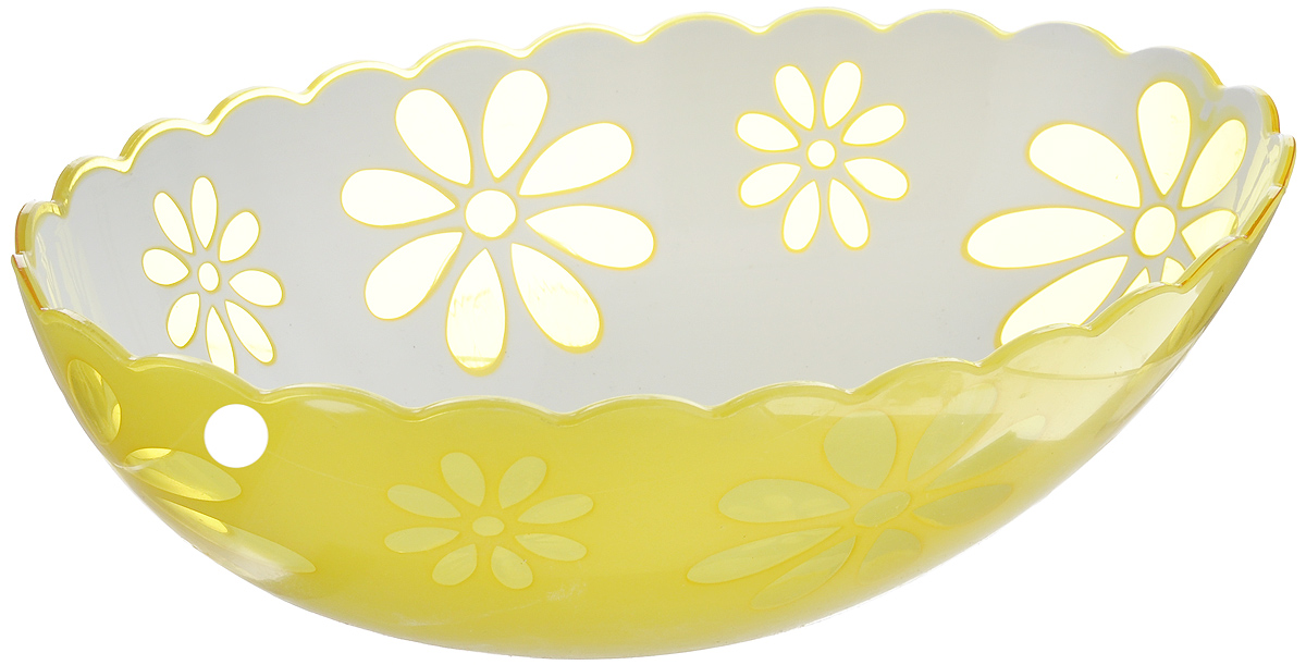 Салатник Альтернатива Соблазн, цвет: желтый, белый, 1,3 л соблазн гнева