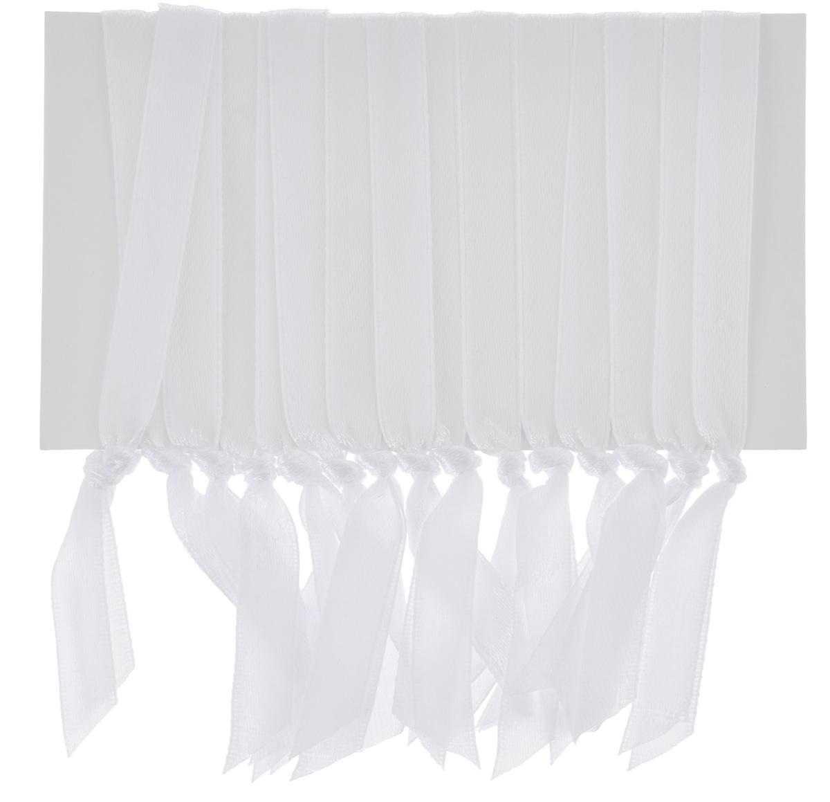 Набор лент Lunten Ranta для елочных украшений, цвет: белый, длина 32 см, 15 шт новогодняя гирлянда lunten ranta цвет серебристый длина 2 м 65515