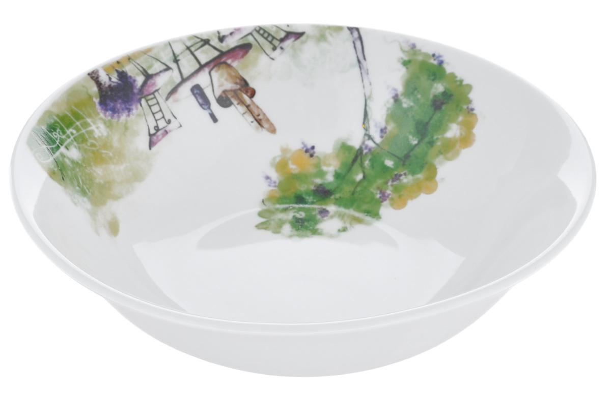 Салатница Dasen Дерево, диаметр 14 смDNDS0008-4Салатница Dasen Дерево, изготовленная из высококачественного фаянса, предназначена для красивой подачи различных блюд. Изделие украшено ярким красочным рисунком. Такая салатница украсит сервировку стола и подчеркнет прекрасный вкус хозяйки.Можно мыть в посудомоечной машине и использовать в микроволновой печи. Диаметр: 14 см.Высота: 4,5 см.