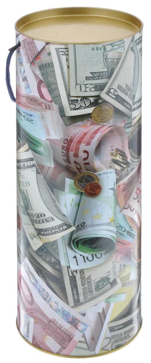 Тубус подарочный Правила Успеха Не в деньгах счастье, диаметр 12 см4610009211Подарочный тубус Правила Успеха Не в деньгах счастье выполнен из плотного картона и металла. Изделие оформлено ярким изображением бумажных денежных купюр и монет. Тубус оснащен металлической крышкой и текстильной ручкой.Подарочный тубус - это оригинальное решение, если вы хотите порадовать ваших близких и создать праздничное настроение, ведь подарок, преподнесенный в необычной упаковке, всегда будет самым эффектным и запоминающимся. Окружите близких людей вниманием и заботой, вручив презент в нарядном, праздничном оформлении.Высота тубуса: 34,5 см.