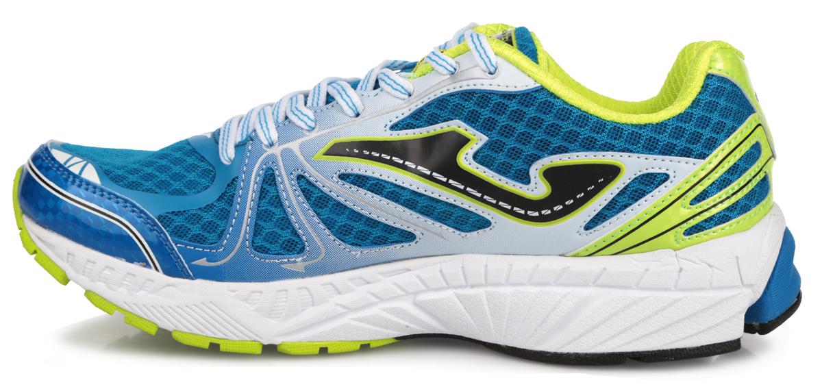 """Мужские кроссовки Titanium от Joma подходят для тренировок спортсменов среднего веса. Верх выполнен из сетчатого текстиля и дополнен вставками из синтетической кожи. На языке, на заднике и по бокам изделие оформлено фирменным логотипом. Стелька из EVA с текстильной поверхностью обеспечивает комфорт. Шнуровка надежно фиксирует модель на ноге. Носочная часть дополнена защитной вставкой, уплотненный задник поддерживает ногу. Внутренняя конструкция модели выполнена по технологии """"перчатки"""", которая оборачивает вашу стопу и помогает работе связок и сухожилий. Гибкая подошва с системой стабилизации Pulsor Dio обеспечивая отличную амортизацию. Рельефный рисунок подошвы предотвращает скольжение. В таких кроссовках вашим ногам будет комфортно и уютно."""