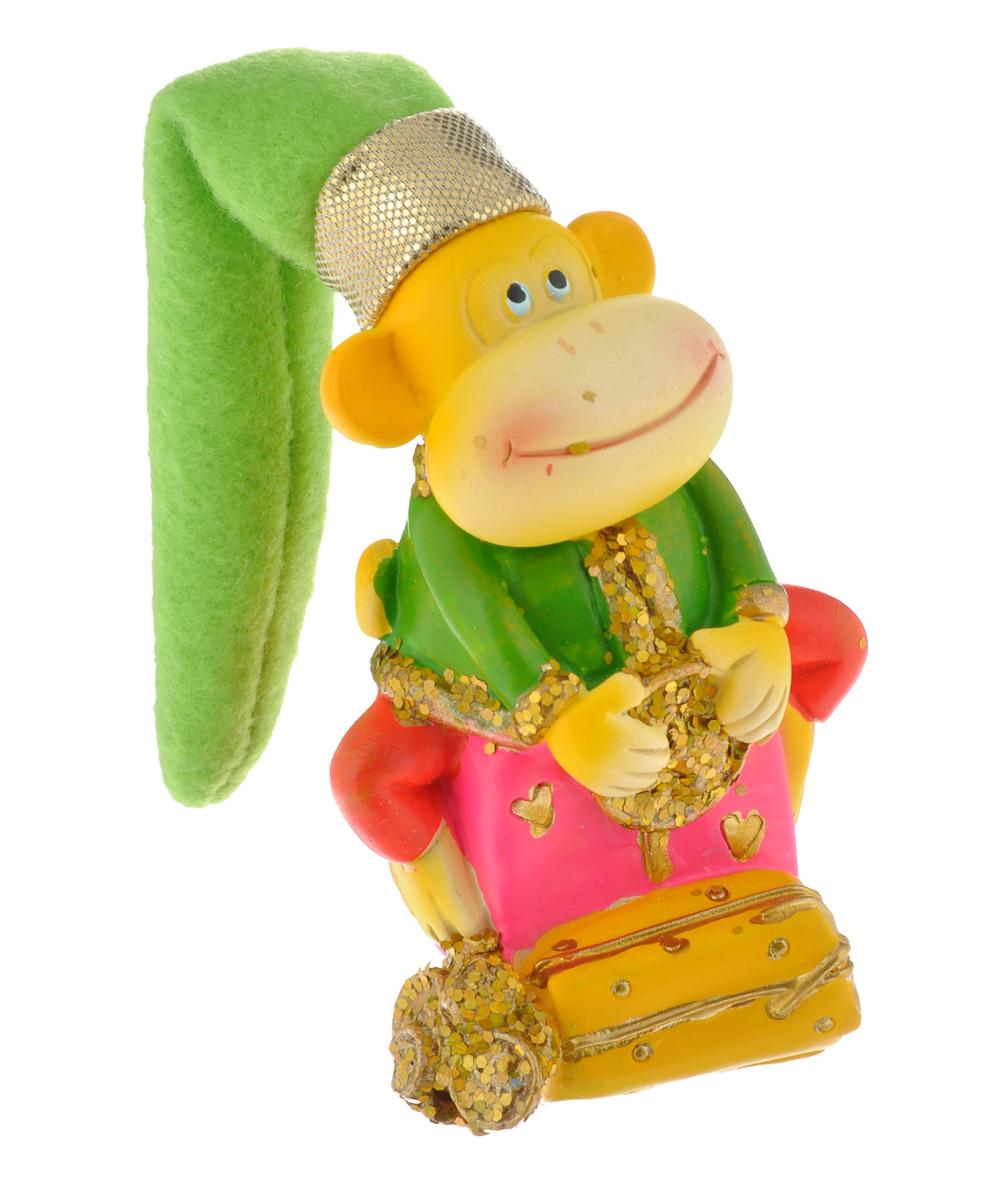 Фигурка декоративная Sima-land Обезьянка в колпаке на подарке, высота 14,7 см фигурка декоративная sima land мишка высота 18 см