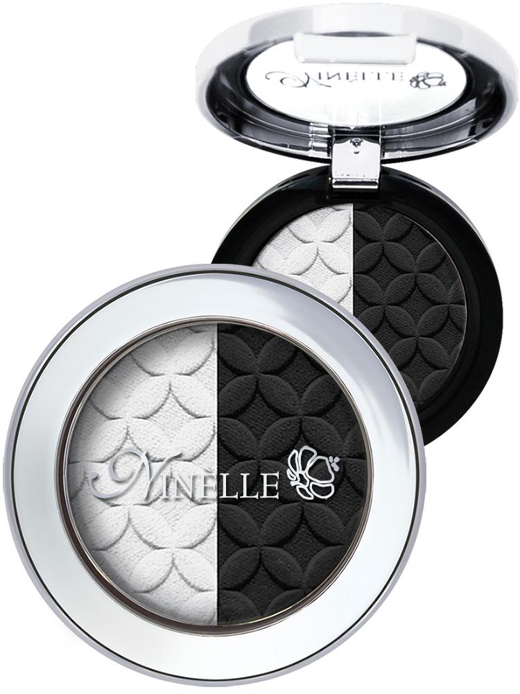 Ninelle Тени для век Artist, тон №40 черно-белый, 2,5 г957N10661Двойные тени Artist от Ninelle - это непревзойденное ретро с новым звучанием. Два оттенка, дополняющих друг друга. Один акцентирует, другой - подчеркивает форму.Тени для век Artist марки Ninelle великолепно наносятся на веко, не скатываются и позволяют создавать различные степени макияжа - от совсем легкого и невесомого до насыщенного и интенсивного. Наносятся двумя способами: сухой способ обеспечивает легкое полупрозрачное покрытие с мягким сиянием, влажный - усиливает плотность, цвет и сияние теней. Гипоаллергенно.Товар сертифицирован.