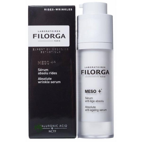 Filorga Сыворотка Meso+ против старения 30 млDCGP012Комплексно воздействует на все этапы старения: стимулирует, разглаживает,восстанавливает. Сыворотка является настоящим ускорителем коллагена, состоящим из молекулы NCTF, широко применяемой в космезотерапии, и фрагментов ДНК, обладает мощным увлажняющим и антиоксидантным эффектом, восстанавливает фибробласты: эксклюзивный коктейль стимулирует клеточную активность дермы для укрепления и восстановления кожи. Параллельно ретинол разглаживает кожу лица, устраняя морщины и выравнивая рельеф. Шелковистая текстура на водной основе мгновенно впитывается, обеспечивая эффект бархатной кожи. Кожа ровная и гладкая, восстановлена на поверхности и в глубине, свежая, отдохнувшая, светится энергией.Кожа ровная, гладкая светится энергией