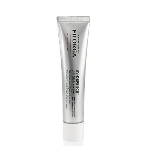 Filorga Солнцезащитный крем UV-Defence 40 млDCGP031Солнцезащитный крем УВ-Дефенс эффективно защищает кожу от фотостарения и пигментации. Солнцезащитные фильтры, усиленные СанАктином и витамином Е, блокируют UVA и UVB лучи и оказывают антиоксидантное действие. Обеспечивает максимальную степень защиты SPF 50 +. Экстракт хмеля препятствует появлению пигментных пятен и регулирует синтез меланина.NCTF в сочетании с гиалуроновой кислотой восстанавливает структуру кожи, активизирую клеточную регенерацию. Экстракт бурой водоросли поддерживает оптимальный уровень увлажнения, предупреждая обезвоживание. Можно использовать для кожи после косметологических процедур (инъекции, пилинги, лазер)Эффективно защищает кожу от фотостарения и пигментаци