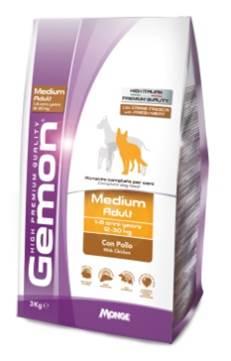 Корм Gemon Dog Medium, для взрослых собак средних пород, с курицей, 3 кг лакомство vita pro dentes для собак средних пород 35 г 2 шт