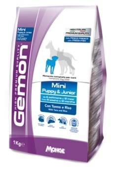 Корм Gemon Dog Mini, для щенков мелких пород, тунец с рисом, 1 кг спб корм корм для щенка бенто кронен