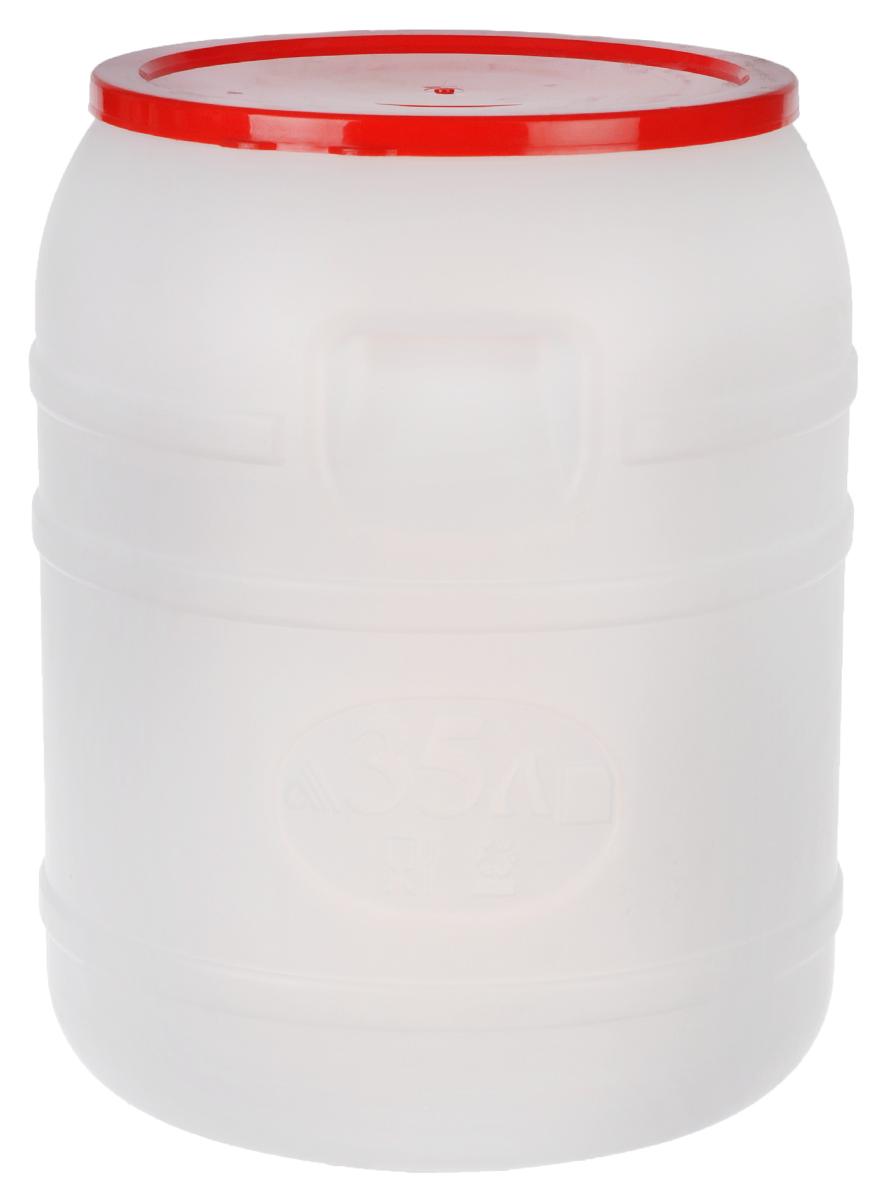 Канистра Альтернатива, 35 лM391Канистра Альтернатива на 35 литров, изготовленная из прочного пищевого пластика, предназначена для транспортировки и хранения пищевых жидкостей. Изделие безопасно для здоровья, герметично, устойчиво к растрескиванию, легко очищается и не сохраняет нежелательных запахов. Имеет широкое удобно отверстие, которое прочно закручивается крышкой, а для удобства переноски имеются встроенные ручки. Также можно использовать на дачных участках для хранения поливочной воды, компоста, в качестве емкости для сыпучих строительных материалов.