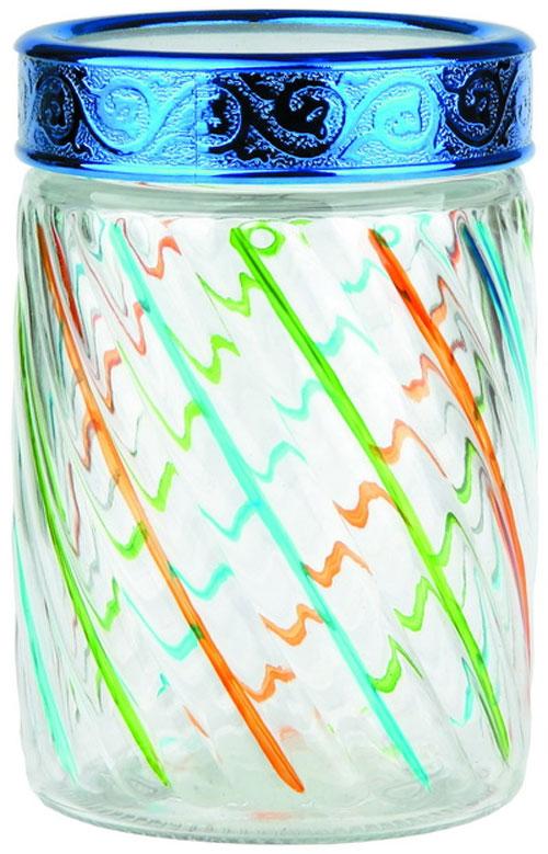 """Банка Bohmann """"Полосы"""" изготовлена из стекла. Емкость снабжена пластиковой крышкой, которая плотно закрывается, дольше сохраняя аромат и свежесть содержимого. Банка подходит для хранения сыпучих продуктов: круп, специй, сахара, соли. Такая банка станет полезным приобретением и пригодится на любой кухне. Диаметр (по верхнему краю): 10,5 см. Высота (без учета крышки): 16,5 см."""