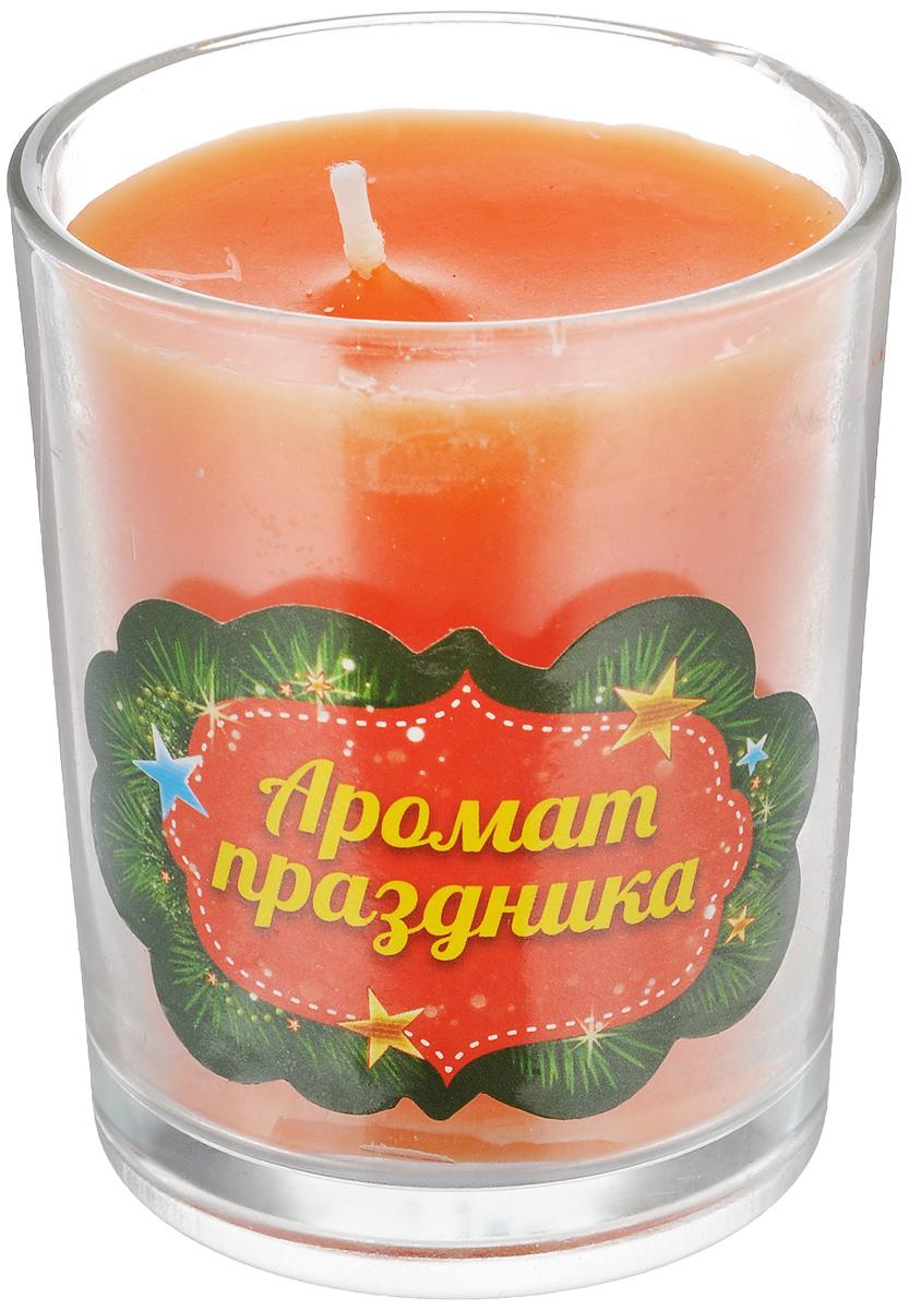 Свеча ароматизированная Sima-land Аромат праздника, высота 6 см свеча ароматизированная sima land океан высота 4 см