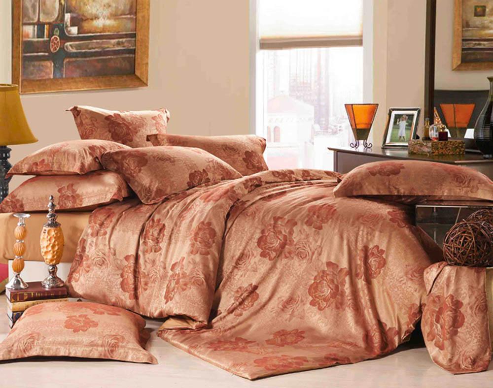 Комплект белья Primavelle Аликанте, 2-спальный, наволочки 70х70, цвет: золотой, бордовый. 175215704-tc8