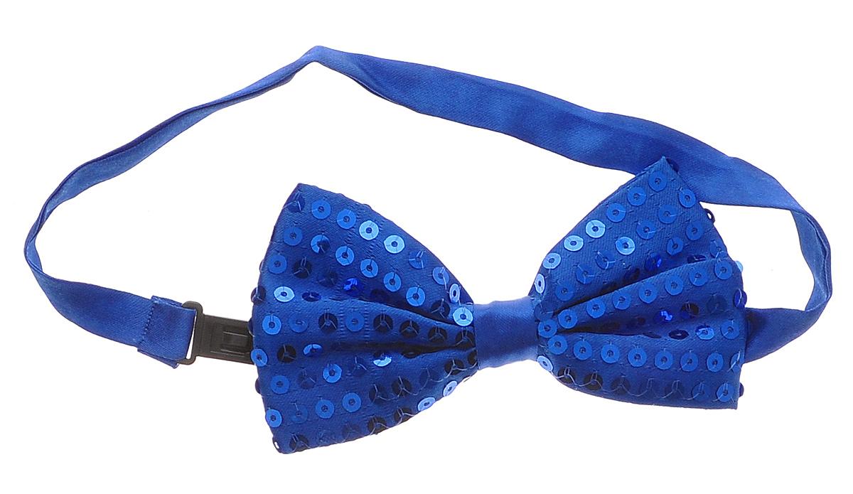 Галстук-бабочка маскарадный Феникс-Презент, цвет: синий феникс презент