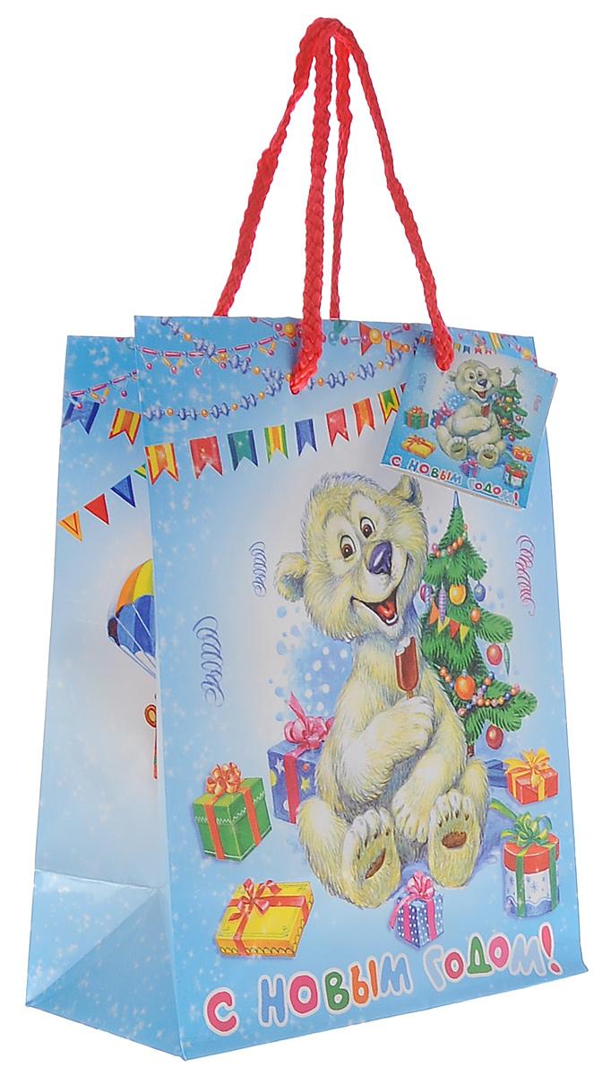 Пакет подарочный Феникс-Презент Медвежонок, 18 х 23 х 10 см35125Подарочный пакет Феникс-презент Медвежонок, изготовленный из плотной бумаги, станет незаменимым дополнением к выбранному подарку. Дно изделия укреплено картоном, который позволяет сохранить форму пакета и исключает возможность деформации дна под тяжестью подарка. Пакет выполнен с глянцевой ламинацией, что придает ему прочность, а изображению - яркость и насыщенность цветов. Для удобной переноски на пакете имеются две ручки из шнурков.Подарок, преподнесенный в оригинальной упаковке, всегда будет самым эффектным и запоминающимся. Окружите близких людей вниманием и заботой, вручив презент в нарядном, праздничном оформлении.Плотность бумаги: 140 г/м2.
