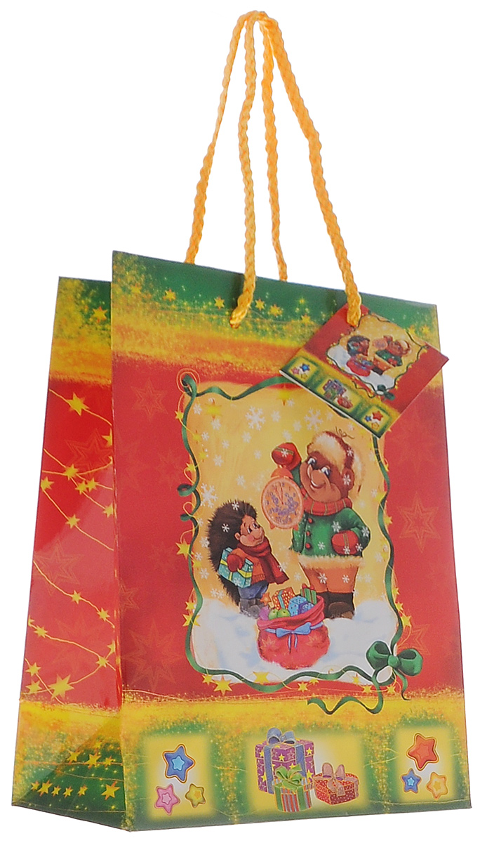 Пакет подарочный Феникс-Презент Медведь и ежик, 18 х 23 х 10 см пакет подарочный феникс презент чашки 18 х 10 х 23 см