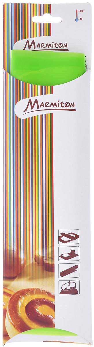 Коврик для теста Marmiton, цвет: зеленый, 38 х 28 см16065_зеленыйСиликоновый коврик Marmiton подходит для раскатки теста и обработки других продуктов. Он идеально прилегает к поверхности стола. Также коврик можно использовать в духовках и микроволновых печах при температуре от +230°С до - 40°С. Материал легко моется, устойчив к фруктовым кислотам.