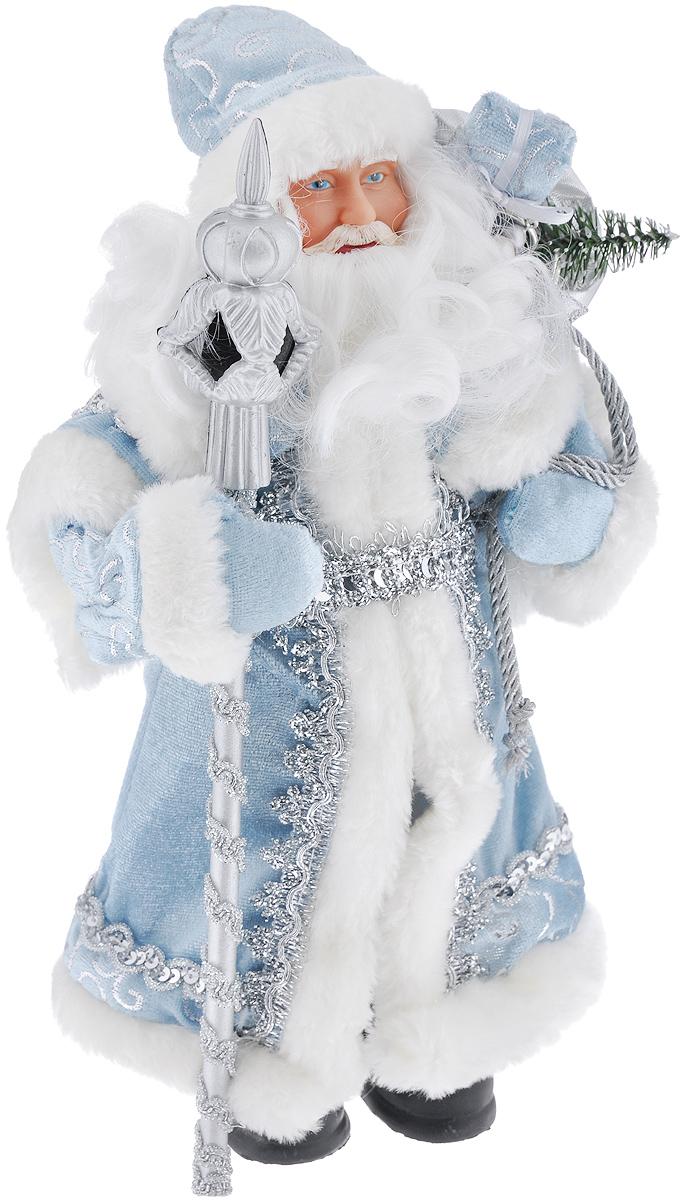Новогодняя фигурка Феникс-презент Дед Мороз в голубом костюме, высота 30 см39098/75906Новогодняя фигурка Феникс-презент Дед Мороз в голубом костюме прекрасно подойдет для оформления новогоднего интерьера и принесет с собой атмосферу радости и веселья. Дед Мороз одет в белые брюки и длинную голубую шубу с белой опушкой, украшенную серебристой тесьмой и пайетками. На голове - шапка с мехом в тон шубы, на ногах - черные башмачки. В руках он держит посох и мешок с подарками. Его добрый вид и очаровательная густая белая борода притягивают к себе восторженные взгляды.Коллекция декоративных украшений из серии Magic Time принесет в ваш дом ни с чем не сравнимое ощущение волшебства!Новогодние украшения всегда несут в себе волшебство и красоту праздника. Создайте в своем доме атмосферу тепла, веселья и радости, украшая его всей семьей.Высота фигурки: 30 см.