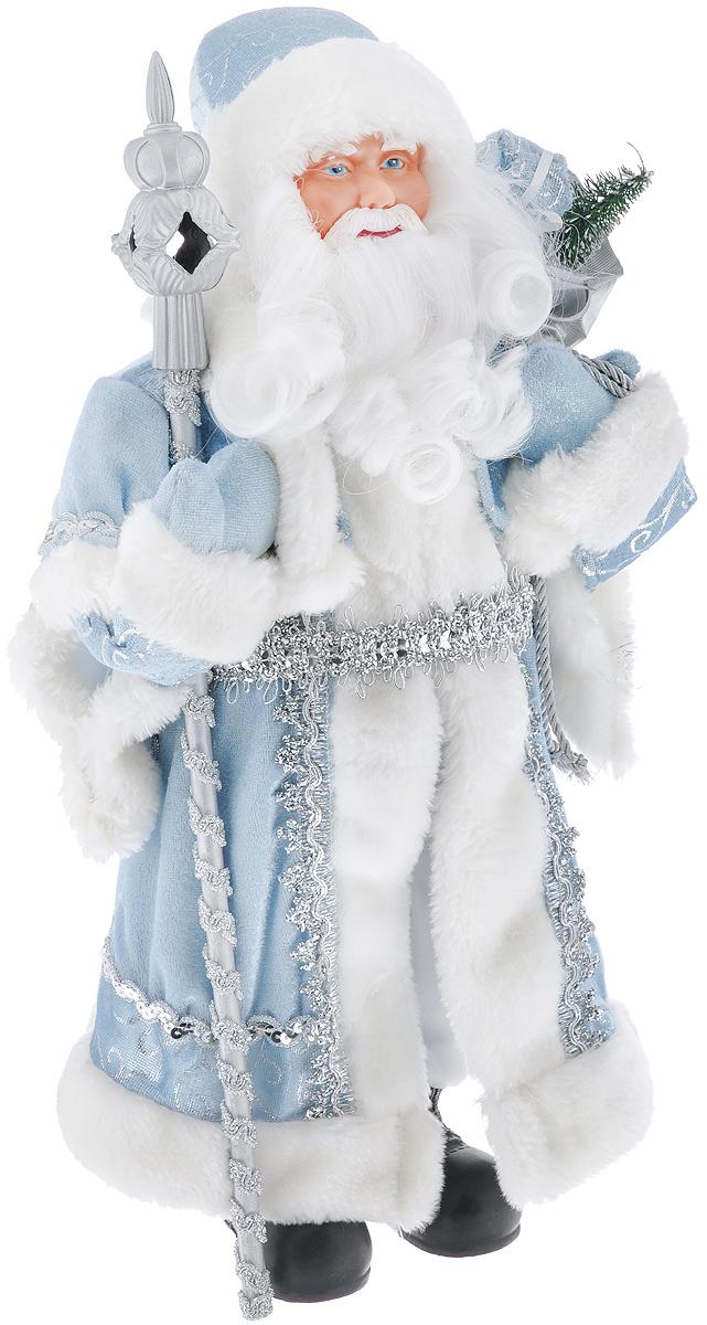 Новогодняя фигурка Феникс-презент Дед Мороз, цвет: белый, голубой, серебристый, 41 см. 3909239092Декоративная фигурка Феникс-презент «Дед Мороз» изготовлена из пластика и ткани. Она подойдет для оформления новогоднего интерьера и принесет с собой атмосферу радости и веселья. Дед Мороз одет в белые брюки и длинную шубу с красивыми узорами, подвязанную ремешком. На голове - шапка с мехом, на ногах - черные башмачки. В руках он держит посох и мешок с подарками. Его добрый вид и очаровательная густая, белая борода притягивают к себе восторженные взгляды.Коллекция декоративных украшений из серии «Magic Time» принесет в ваш дом ни с чем не сравнимое ощущение волшебства!Новогодние украшения всегда несут в себе волшебство и красоту праздника. Создайте в своем доме атмосферу тепла, веселья и радости, украшая его всей семьей.Высота фигурки: 41 см.