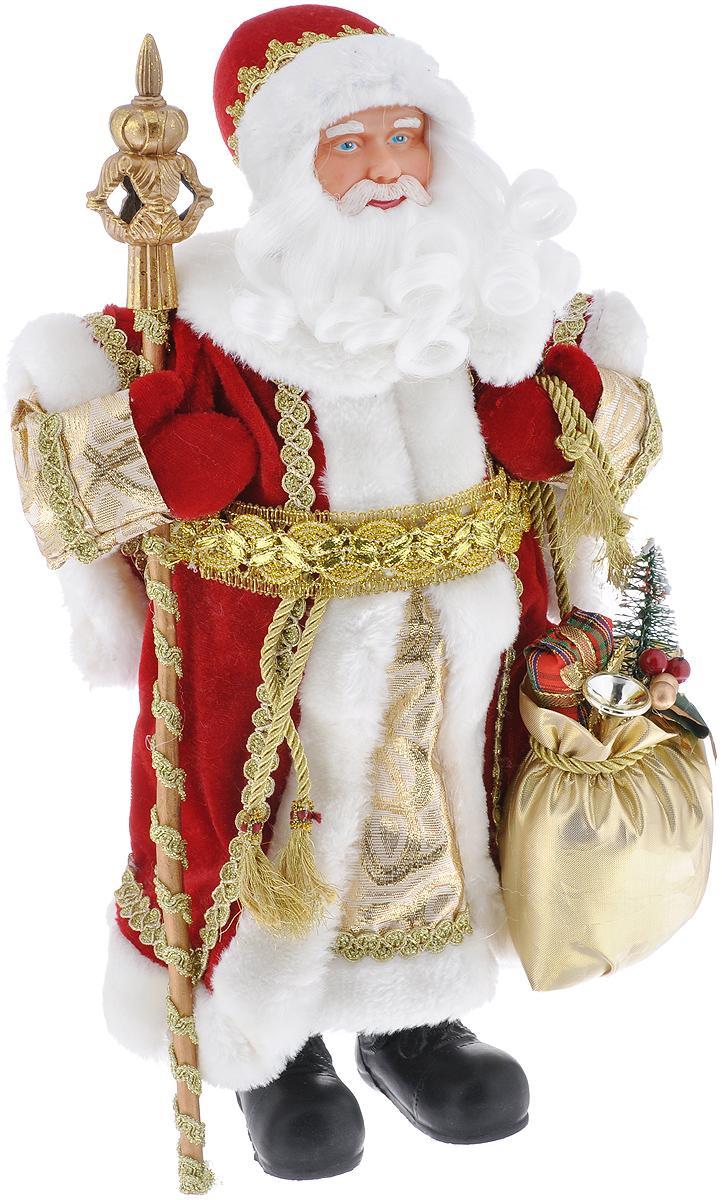 Новогодняя фигурка Феникс-презент Дед Мороз, цвет: красный, белый, золотой, 41 см. 39089 игровые фигурки maxitoys фигура дед мороз в плетеном кресле музыкальный