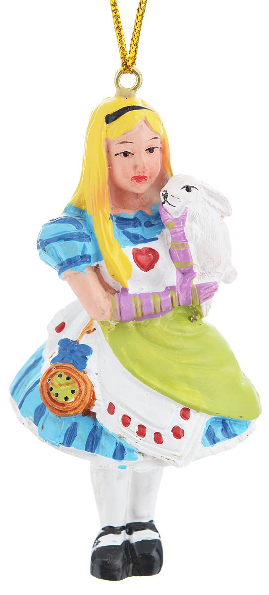 Новогоднее подвесное украшение Феникс-презент Алиса с кроликом38267Подвесное украшение Феникс-презент Алиса с кроликом, изготовленное из высококачественного полирезина, прекрасно подойдет для праздничного декора дома и новогодней ели. Изделие выполнено в виде персонажа Алисы в стране чудес с кроликом на руках. С помощью специальной текстильной петельки его можно повесить в любом понравившемся вам месте. Но, конечно, удачнее всего такая игрушка будет смотреться на праздничной елке. Елочная игрушка - символ Нового года. Она несет в себе волшебство и красоту праздника. Создайте в своем доме атмосферу веселья и радости, украшая новогоднюю елку нарядными игрушками, которые будут из года в год накапливать теплоту воспоминаний.