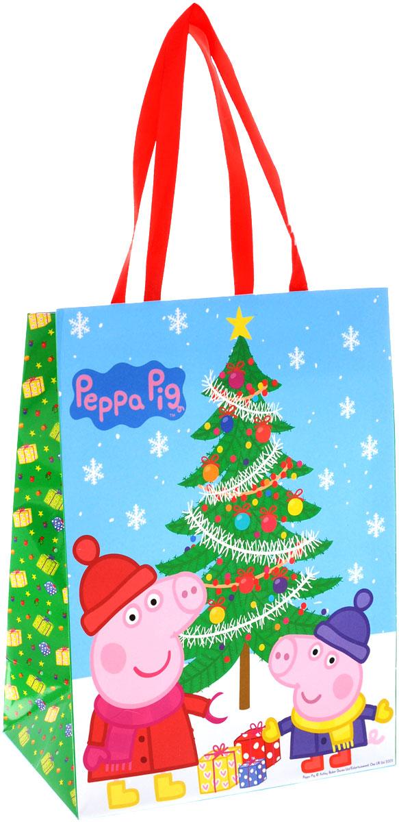 Peppa Pig Пакет подарочный Пеппа зимой 23 см х 18 см х 10 см28845Яркий подарочный пакет Пеппа зимой с очаровательными героями мультфильма Свинка Пеппа празднично украсит ваш новогодний подарок. Для удобной переноски на пакете имеются две атласные ручки.Подарок, преподнесенный в оригинальной упаковке, всегда будет самым эффектным и запоминающимся. Окружите близких людей вниманием и заботой, вручив презент в нарядном, праздничном оформлении.