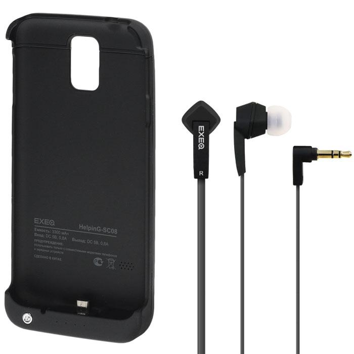 EXEQ HelpinG-SC08 чехол-аккумулятор для Samsung Galaxy S5, Black (3300 мАч, клип-кейс)