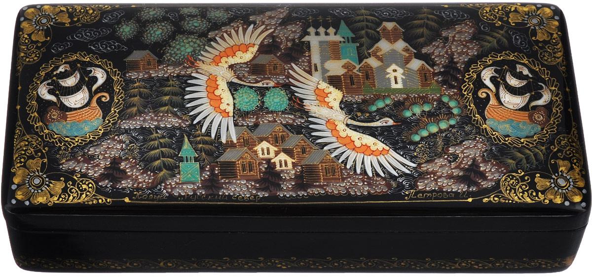 Шкатулка Русский Север, 15,5 см х 7 см. Ручная авторская работа шкатулка холуй перо жар птицы николаева 779690
