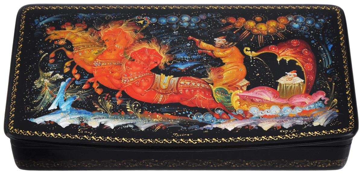 Шкатулка Тройка, 16 см х 8,5 см. Ручная авторская работа шкатулки trousselier музыкальная шкатулка 1 отделение fairy parma