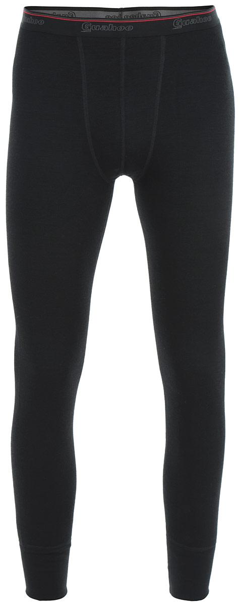 Термобелье кальсоны мужские Guahoo Everyday, цвет: черный. 21-0460-P. Размер L (52)21-0460-PМужские кальсоны Guahoo Everyday подходят для повседневной носки в холодное время года. Идеальное сочетание различных видов пряжи с добавлением натуральной шерсти во внешнем слое, а также специальное плетение обеспечивают эффективное сохранение тепла. Внутренний слой полотна - из мягкой акриловой пряжи, которая по своим теплосберегающим свойствам не уступает шерсти. Начес на внутренней стороне полотна лучше сохраняет тепло за счет дополнительной воздушной прослойки.Кальсоны на талии имеют широкую эластичную резинку. Низ штанин дополнен широкими трикотажными манжетами.Рекомендуемый температурный режим от -20°С до -40°С.