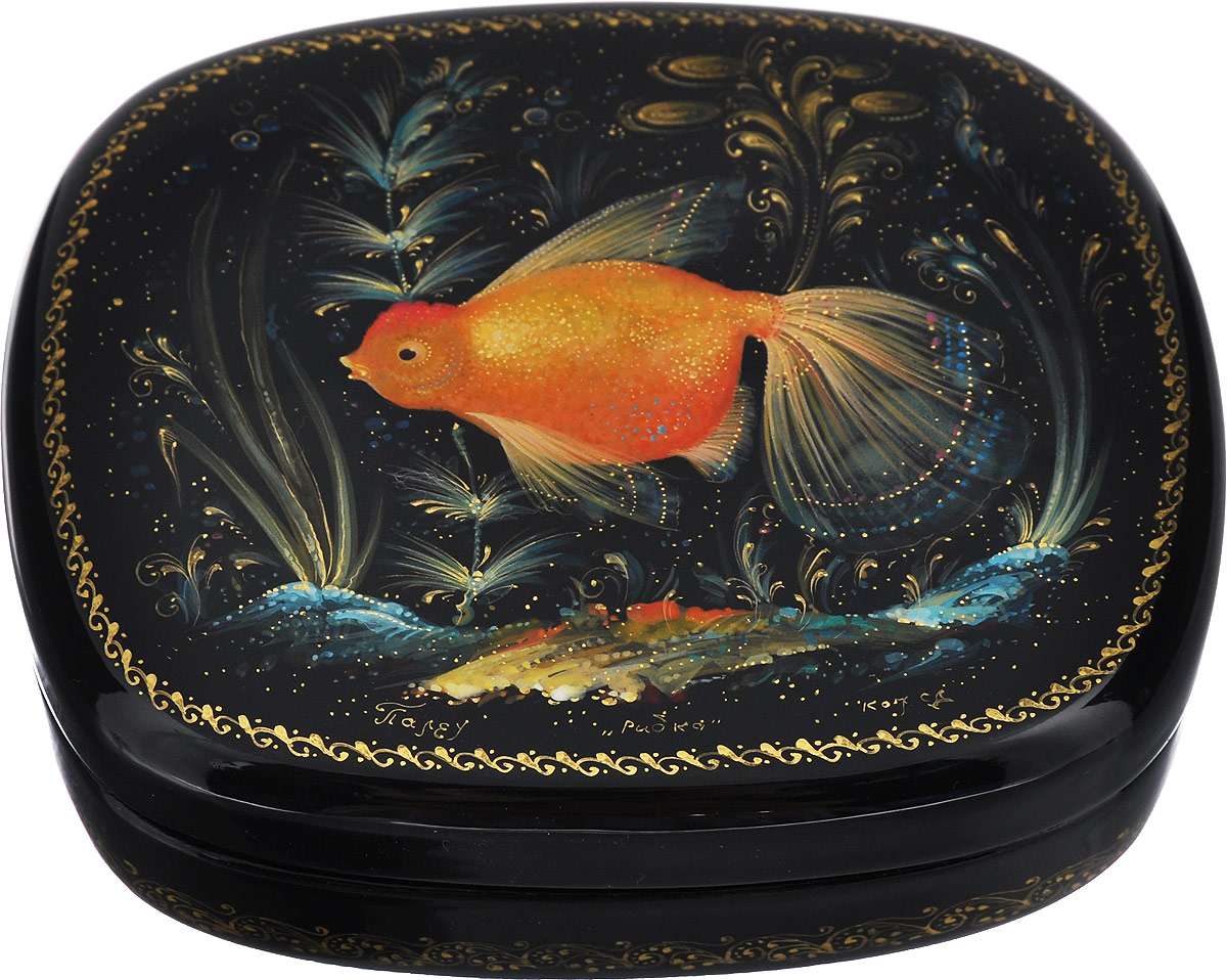 Шкатулка Рыбка, 10,5 см х 9 см. Ручная авторская работа шкатулки trousselier музыкальная шкатулка 1 отделение fairy parma