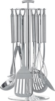 Набор кухонных принадлежностей Nadoba Karolina, 7 предметов721022Набор кухонных инструментов Nadoba Karolina выполнен из нержавеющейстали. Высокая прочность и долговечность в использовании. Зеркальная полировка рабочих частей.