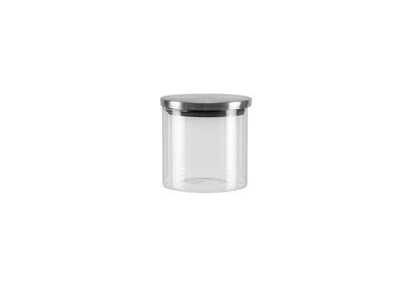 Ёмкость для хранения Nadoba Silvana, 0.45 л. 741413741413Герметичная крышка из нержавеющей стали. Прозрачное боросиликатное стекло. Гарантия 5 лет.
