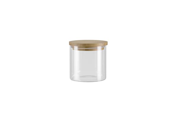 Ёмкость для хранения Nadoba Vilema, 0.45 л. 741513741513Герметичная крышка из натурального бамбука.Прозрачное боросиликатное стекло. Гарантия 5 лет.