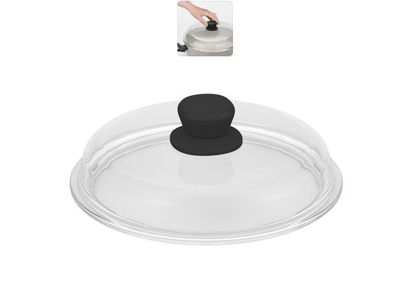 Крышка из боросиликатного стекла Nadoba Gela, диаметр 24 см751113Прочное закаленное боросиликатное стекло. Удобная ненагревающаяся ручка с силиконовым покрытием, предотвращающим выскальзывание. Легко моется благодаря безободной конструкции. Гарантия 5 лет. Размер товара: 85Х250Х250