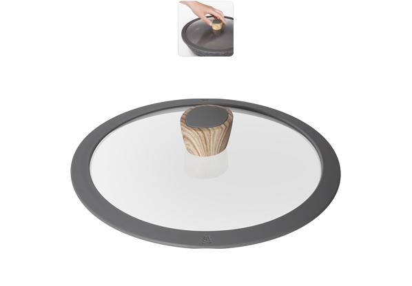 Крышка стеклянная Nadoba Mineralica, с силиконовым ободом. Диаметр 24 см751213Крышка Nadoba Mineralica, изготовленная из закаленного стекла, имеет силиконовый обод, благодаря чему идеально прилегает к посуде и обеспечивает равномерное распределение температуры внутри нее.Крышка имеет удобную ненагревающую ручку из пластика с силиконовым покрытием, предотвращающим выскальзывание из рук. По бокам изделие оснащено пароотводом. Такая крышка позволит следить за процессом приготовления пищи без потери тепла. Она плотно прилегает к краям посуды, сохраняя аромат блюд.