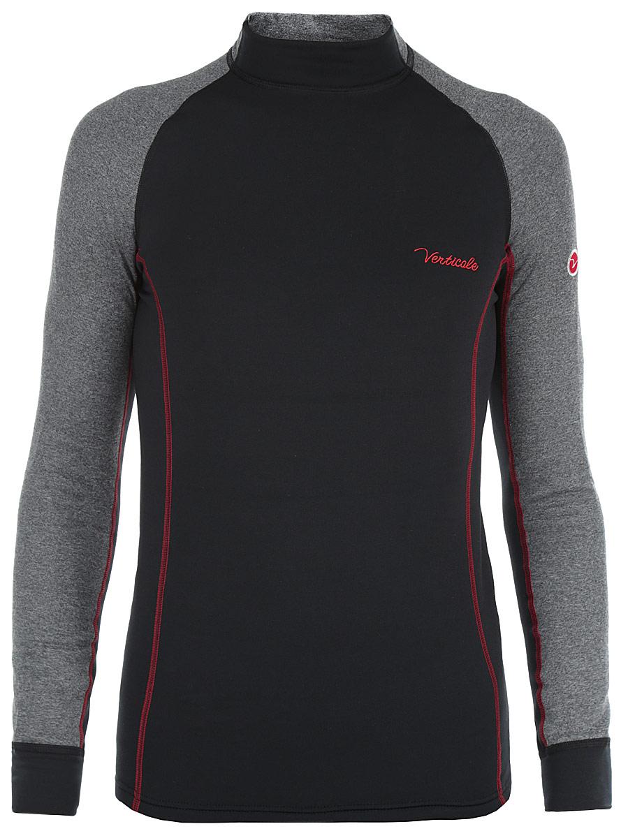 Термобелье кофта мужская Verticale Polar, цвет: черный, серый. Размер XXL (58/60)