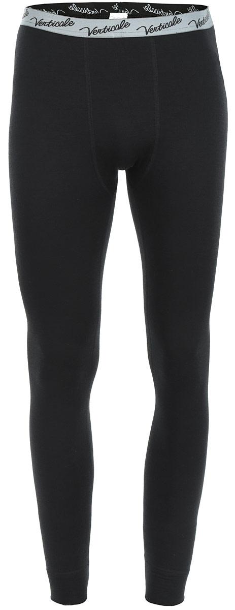 Термобелье кальсоны мужские Verticale Outdoor Pants Felix, цвет: черный. Размер L (50/52)Кальсоны Verticale FELXСерия термобелья Outdoor специально разработана для носки в условиях экстремально низких температур. Красивое и очень комфортное термобелье. Применяется ткань с объемной двухслойной структурой плетения. Отличное сочетание пряжи из натуральной шерсти овец-мериносов и полиэстрового волокна, которое существенно усиливает стойкость шерстяной пряжи к механическому воздействию. Это белье отличает завидная износоустойчивость, к тому же красивый дизайн позволяет носить комплекты как самостоятельные изделия. Модель сочетает в себе свойства отвода влаги термобелья и тепло шерстяной одежды. Снизу брючины дополнены широкими эластичными манжетами. Пояс оснащен резинкой с логотипом бренда. Рекомендуется использовать при малой и средней активности в холодную и очень холодную погоду (зимняя рыбалка, охота, катание на снегоходах).