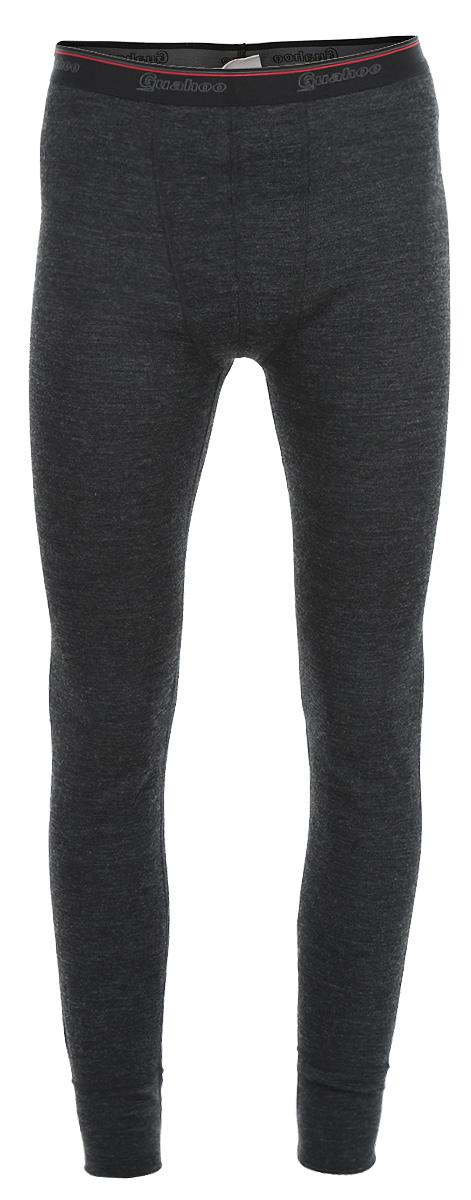 Термобелье кальсоны мужские Guahoo Everyday, цвет: темно-серый. 21-0460-P. Размер XXL (56)21-0460-PМужские кальсоны Guahoo Everyday подходят для повседневной носки в холодное время года. Идеальное сочетание различных видов пряжи с добавлением натуральной шерсти во внешнем слое, а также специальное плетение обеспечивают эффективное сохранение тепла. Внутренний слой полотна - из мягкой акриловой пряжи, которая по своим теплосберегающим свойствам не уступает шерсти. Начес на внутренней стороне полотна лучше сохраняет тепло за счет дополнительной воздушной прослойки.Кальсоны на талии имеют широкую эластичную резинку. Низ штанин дополнен широкими трикотажными манжетами.Рекомендуемый температурный режим от -20°С до -40°С.