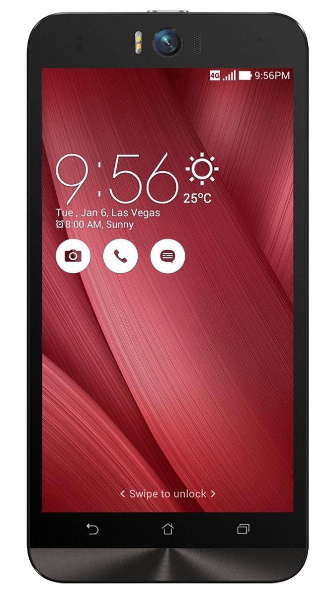 ASUS ZenFone Selfie ZD551KL (16GB), Pink (90AZ00U3-M01250)90AZ00U3-M01250Asus Zenfone Selfie ZD551KL - инновационное сочетание современных технологий, модных трендов и безупречного качества изготовления. В этом смартфоне есть все, чтобы увидеть себя в самом лучшем свете - две отличные камеры с множеством специальных режимов съемки, удобный интерфейс ZenUI и высококачественный экран.Отличительной особенностью смартфона ZenFone Selfie является высококачественная фронтальная камера с технологией PixelMaster, разрешением 13 мегапикселей, большой диафрагмой (F/2,2) и 88-градусным объективом, причем в режиме панорамных селфи она дает возможность снимать фотографии, охватывающие угол до 140 градусов. И фронтальная, и тыловая камеры смартфона оснащены двухцветной светодиодной вспышкой. В обоих применены современные компоненты от Largan и Toshiba, а в тыловой также реализована высокоскоростная система лазерной автофокусировки.Благодаря поддержке системы жестового управления ZenMotion, для перевода смартфона ZenFone Selfie в режим съемки селфи достаточно начертить пальцем на его экране определенный символ. По умолчанию это латинская буква S, однако ее легко можно заменить на любую другую. Функция улучшения портрета позволяет автоматически украсить селфи-снимки в режиме реального времени: убрать дефекты кожи, подкорректировать черты лица и т.д.Двухцветная вспышка ZenFone Selfie позволяет добиться естественных цветов на фотографиях, снимаемых в помещении. Режим увеличенного динамического диапазона позволяет камерам ZenFone Selfie лучше передавать мельчайшие детали в темных участках фотоснимка.Asus Zenfone Selfie ZD551KL выполнен в ярком корпусе, который обладает типичными для смартфонов Asus декоративными элементами в стиле Zen, такими как узор из концентрических окружностей. Расположенные на задней панели кнопки управления громкостью звука и камерой очень легко нажимать указательным пальцем.IPS-дисплей смартфона ZenFone Selfie обладает разрешением 1920х1080 пикселей и широкими