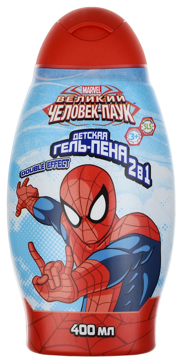 Spider-Man Гель-пена для ванны 2в1 Double effect, детский, 400 мл300071Гель-пена для ванны 2в1 Double effect - это мощное оружие настоящего супер-героя, которое поможет победить усталость и скуку! Двойная сила гель-пены заряжает энергией на весь день. Натуральные компоненты и растительные экстракты, входящие в состав гель-пены, обеспечат бережный уход и позаботятся о красоте и здоровье кожи. Линия средств для настоящего супер-героя! Товар сертифицирован.