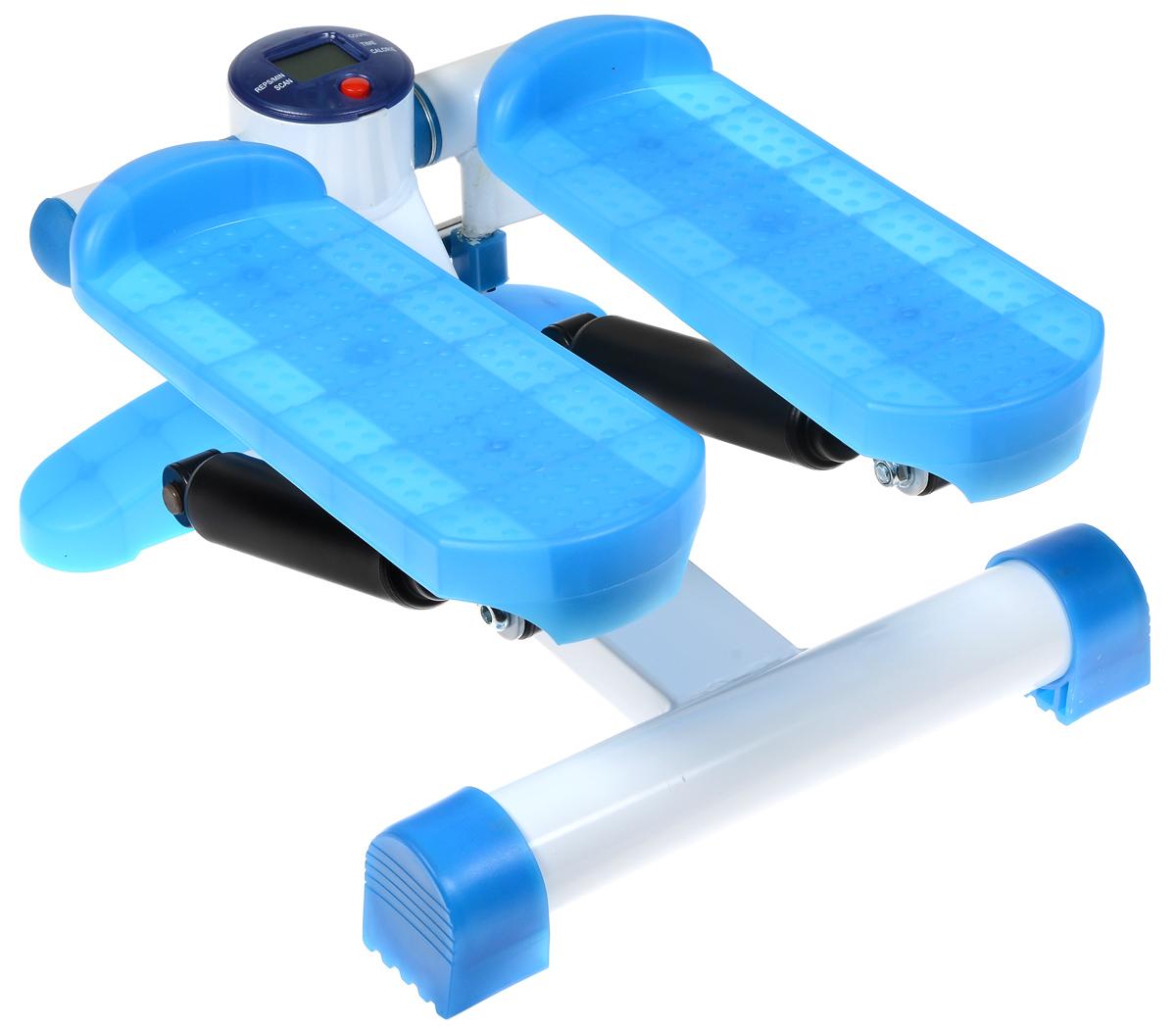Министеппер Ironmaster. IRST10IRST10Министеппер Ironmaster - это удобный и компактный тренажер, позволяющий заниматься спортом в ограниченных пространствах. Степпер создает нагрузку на мышцы ног, ягодиц и брюшного пресса. Изделие оснащено компьютером.Компьютер:Count: показывает суммарное количество шагов за текущий сеанс занятий.Time: показывает время тренировки.Calorie: показывает количество потраченных калорий за время тренировки.Reps/min: показывает среднее количество шагов в минуту.Scan: последовательно отображает значения функций.Назначение красной кнопки:Выбор нужной функции.Компьютер работает от батарейки типа АА (входит в комплект).