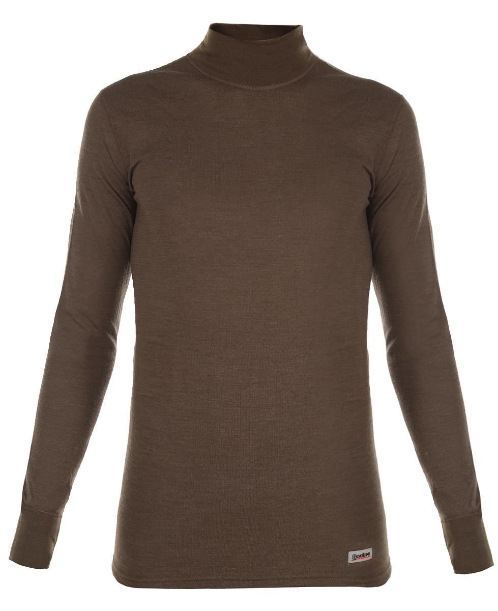 Термобелье кофта мужская Guahoo Outdoor, цвет: болотный. 22-0340-N. Размер L (52)22-0340-NДвухслойная мужская кофта Guahoo Outdoor подходит для активного отдыха повседневной носки в холодную и очень холодную погоду. Верхний слой полотна изготовлен из шерсти овец породы Меринос, которая прекрасно сохраняет тепло, делает ткань мягкой и прочной. Нижний слой из полиэстера отводит влагу от тела, придает прочность изделию, предотвращает усадку и деформацию изделия после стирки и в процессе носки.Кофта с длинными рукавами и воротником-стойкой оформлена небольшой нашивкой с названием бренда. Рукава дополнены широкими трикотажными манжетами.