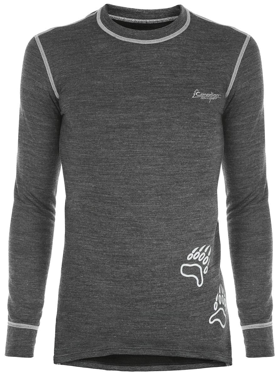 Термобелье кофта мужская Canadian Camper Outdoor Top Trapper, цвет: серый меланж. Размер XXL (58/60)