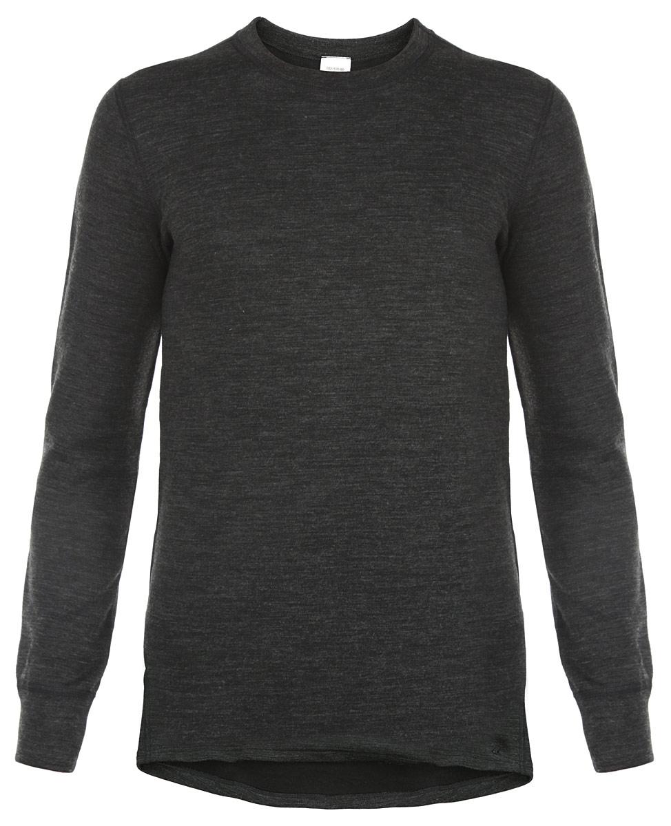 Термобелье футболка с длинным рукавом мужская Laplandic, цвет: темно-серый меланж. L21-2010 S. Размер M (50)L21-2010 SМужское термобелье - футболка с длинным рукавомLaplandic идеально подойдет для вас в холодное время года. Модель имеет двухслойную структуру, она мягкая и приятная на ощупь. Идеальное сочетание различных видов пряжи с добавлением натуральной шерсти во внешнем слое, а также специальное плетение обеспечивают максимальное сохранение тепла. Внутренний слой изделия выполнен из полиэстера, который способствует эффективному выведению влаги. Плоские швы повышают прочность модели и создают дополнительный комфорт. Начес на внутренней стороне полотна лучше сохраняет тепло за счет дополнительной воздушной прослойки (плотность - 275 г/м2). Рукава модели с круглым вырезом горловины дополнены трикотажными эластичными манжетами. Спинка изделия удлинена. Такая футболка станет незаменимым дополнением к вашему гардеробу, она отлично подходит для повседневной носки в прохладную и холодную погоду.