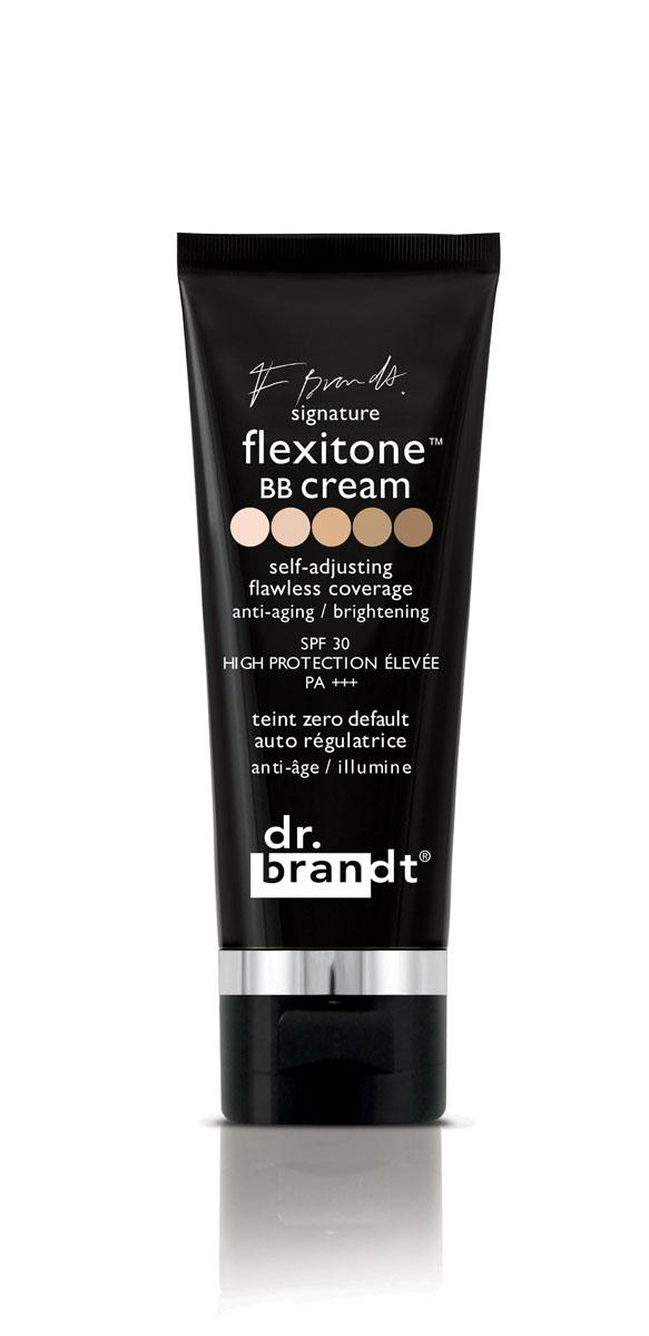 Dr. Brandt BB-крем с комплексом Флекситон, 30 г100828Многофункциональный крем сочетает омолаживающее, защитное, антиоксидантное действие с эффектом тонального и корректирующего средства. Благодаря уникальной технологии FLEXITONE, крем совершенно не заметен на коже и обеспечивает безупречный и абсолютно естественный здоровый и сияющий вид, восхитительную гладкость и красивый тон кожи.Технология FLEXITONE ™ корректирует все недостатки кожи, подходит для любого типа и любого тона кожи! Один оттенок подходит для всех!Технология flexitone™ основана на уникальной новейшей физико-химической структуре пигмент в пигменте. Пигменты не инкапсулированы, а скорее спрятаны в формуле. Цветные пигменты окружены белыми, и все они помещены в водомасляную эмульсию. Во время нанесения эта структура разрушается, постепенно высвобождая пигменты, которые подстраиваются под тон кожи, обеспечивая Вам возможность самостоятельно выбрать идеальный тон для кожи любого оттенка, в зависимости от количества нанесенного крема.